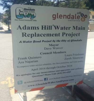 Adams Hill Water Main Replacement