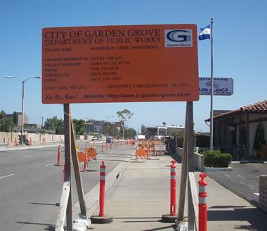 Harbor Boulevard Water Main & Street Reconfiguration