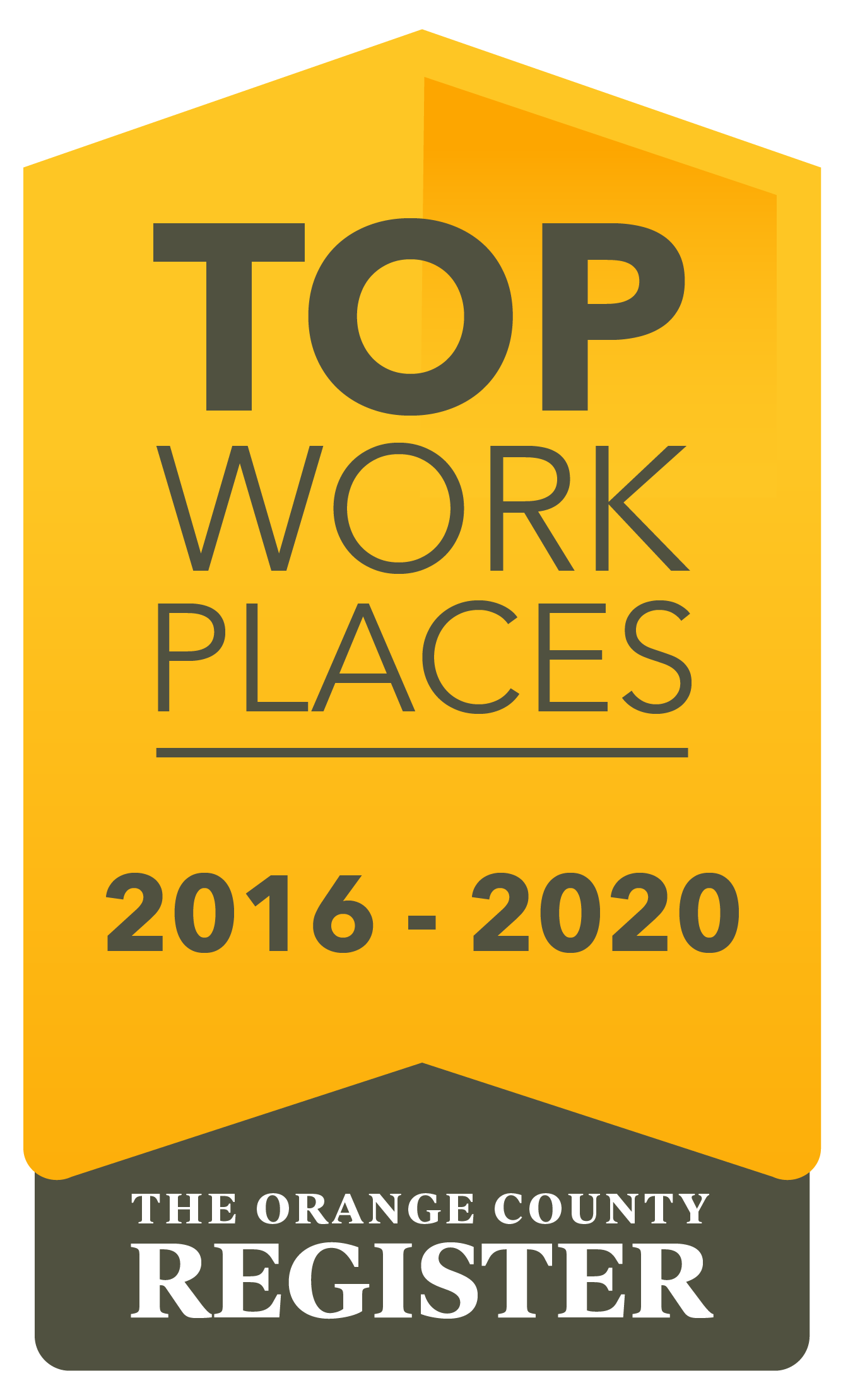 Orange County Register - Top Workplaces 2020, 2019, 2018, 2017, 2016